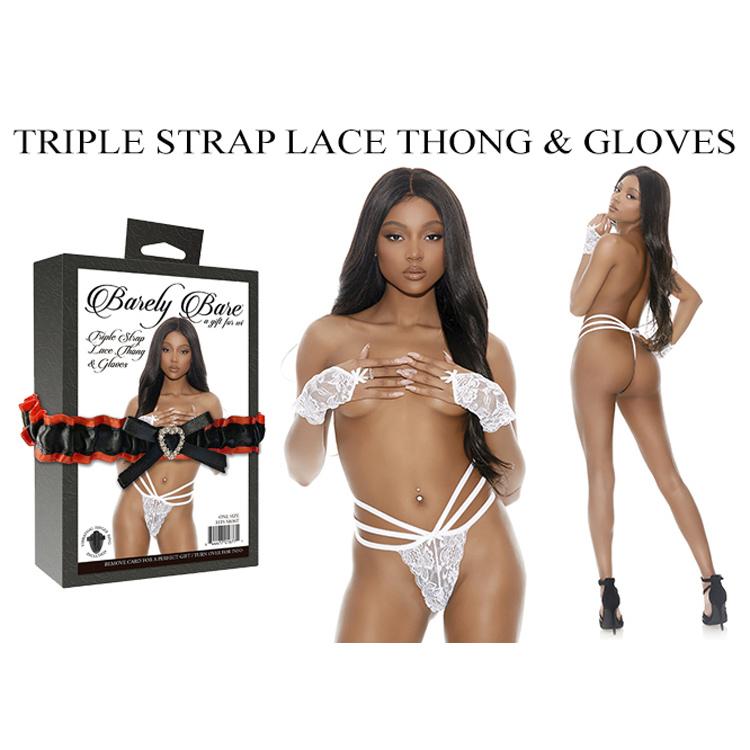 TRIPLE-STRAP-LACE-THONG-GLOVES-WHITE