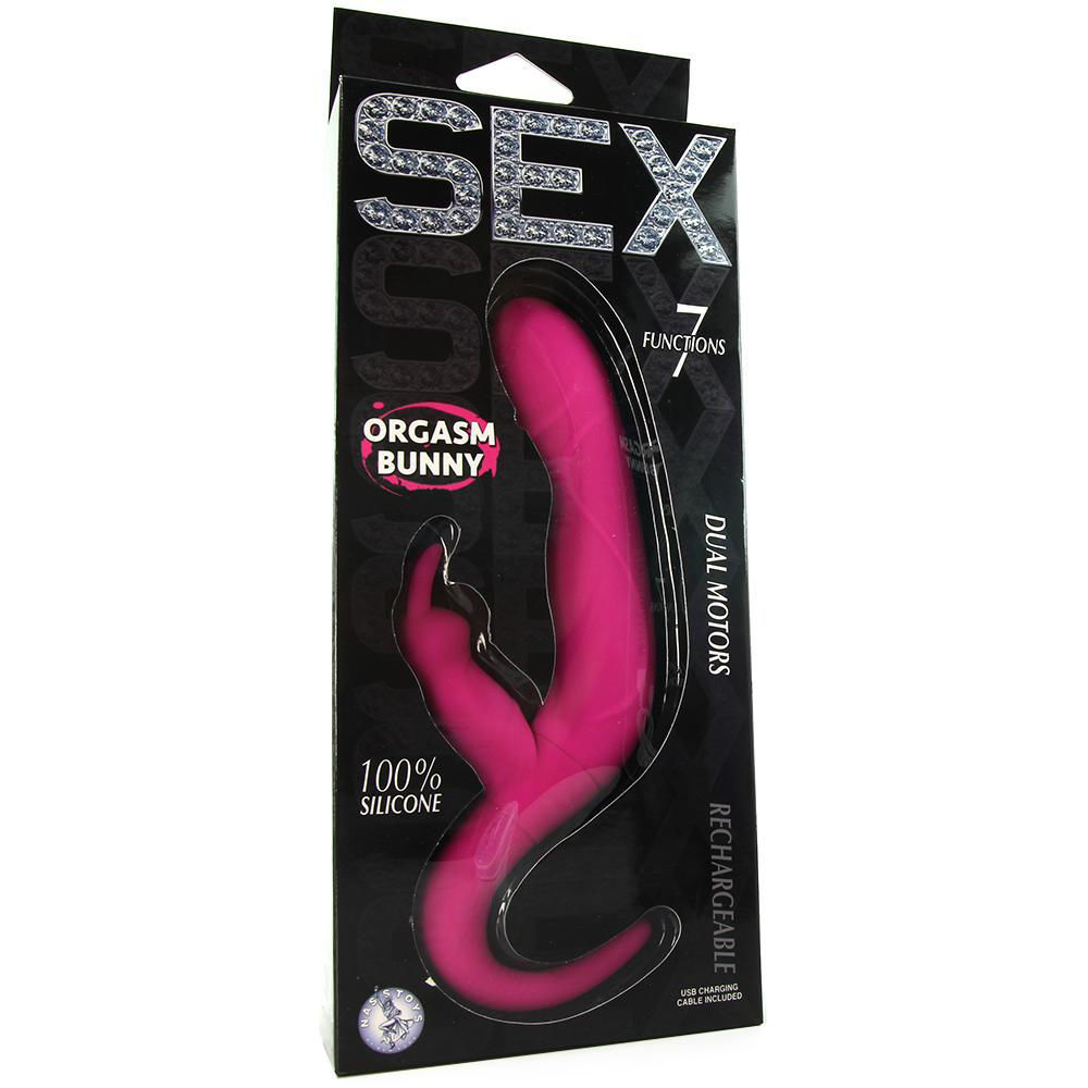 Image de Sex Orgasm Bunny Rechargeable Silicone Vibe in Pink