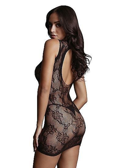 Image de High Neck Lace Mini Dress - O/S