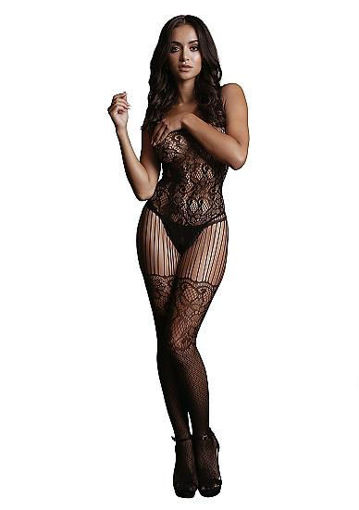 Image de Lace and Fishnet Bodystocking - O/S