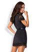 Image de 810-PEI-1 - Elegant Black Lace Robe - L/XL