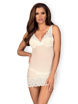 Image de 853-CHE - Chemise & Matching Thong (in Black or White) - S/M