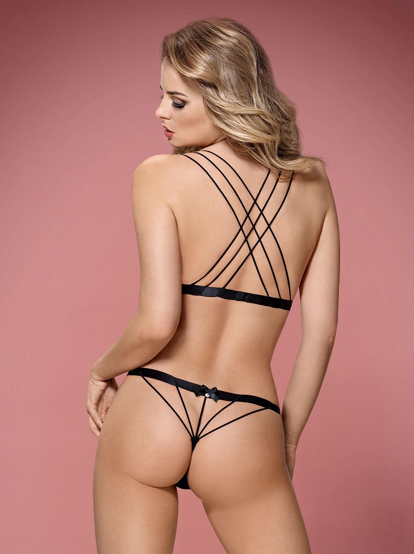 Image de 854-SET-1-Bra & Matching Thong With Sexy Straps - L/XL