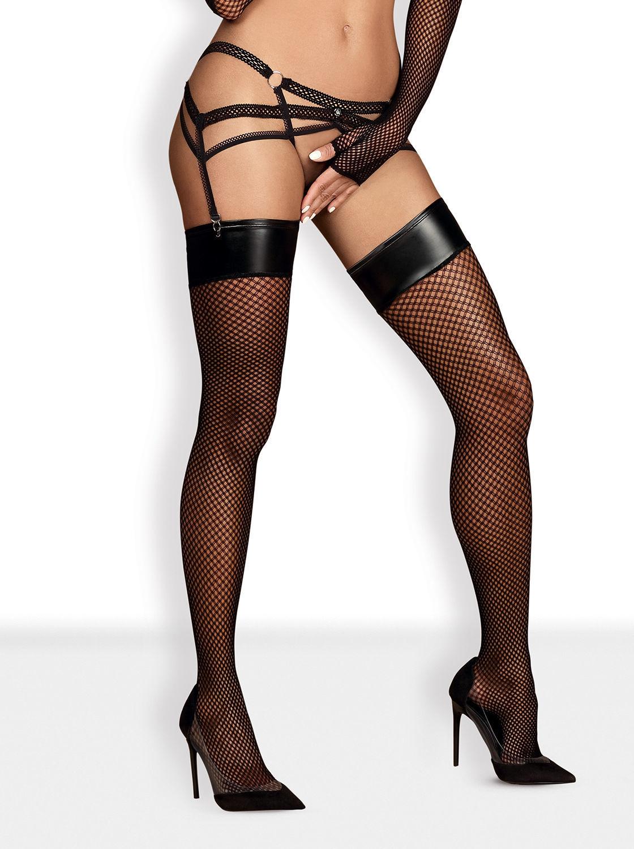 Image de Darkie - Wet Look Stockings - S/M