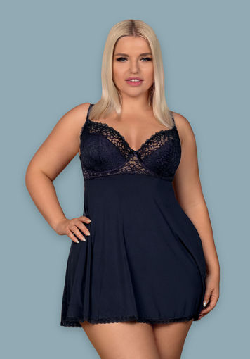 Image de Drimera  - Sexy Navy Blue Babydoll & Matching Thong - L/XL