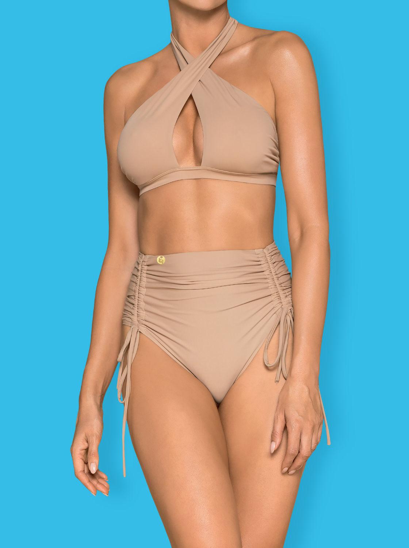 Image de Hamptonella  - Beige High Waisted Bikini - M