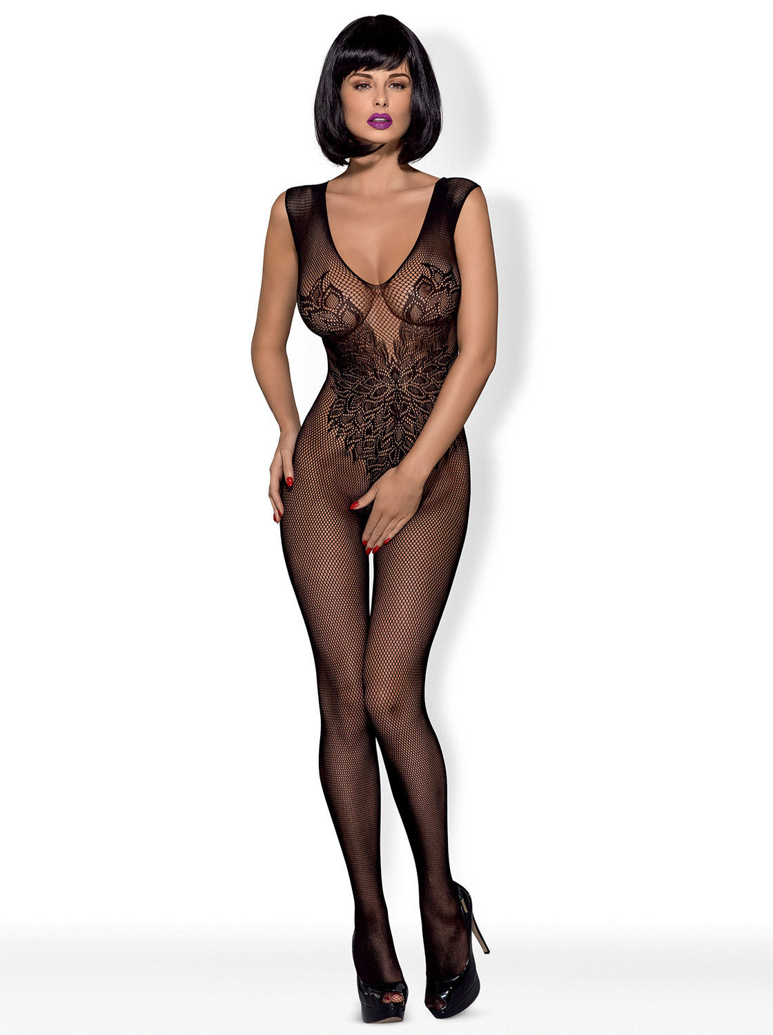 Image de N112  - Irresistible Bodystocking With Sexy Design - S/M/L