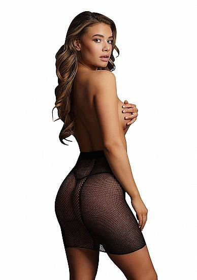 Image de High-waist fishnet skirt - Black - O/S