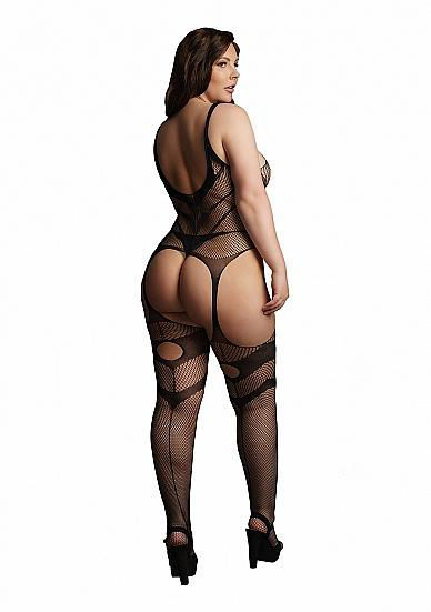 Image de Suspender Bodystocking - Black - OSX